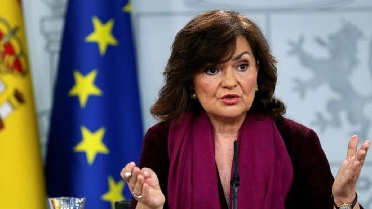 У вице-премьера Испании Кальво обнаружили коронавирус
