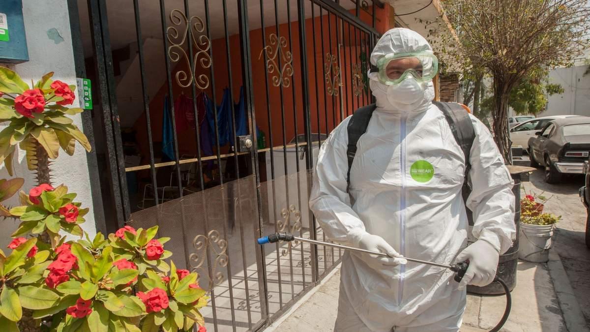Дезинфекція в Мехіко-Сіті