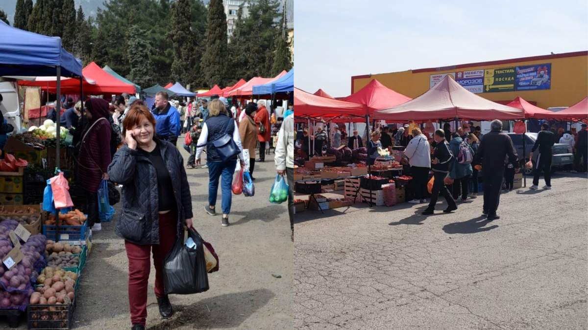 Во время эпидемии коронавируса в аннексированом Крыму организовали массовые ярмарки: фото