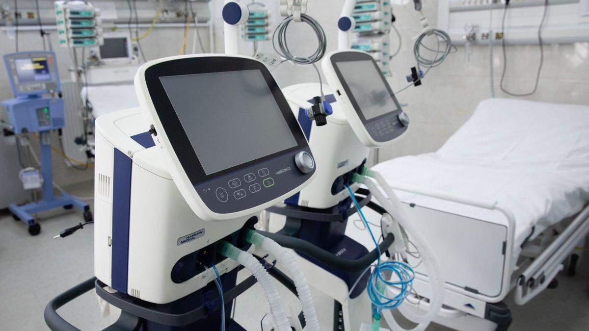 Скільки апаратів штучної вентиляції  легенів є в Україні