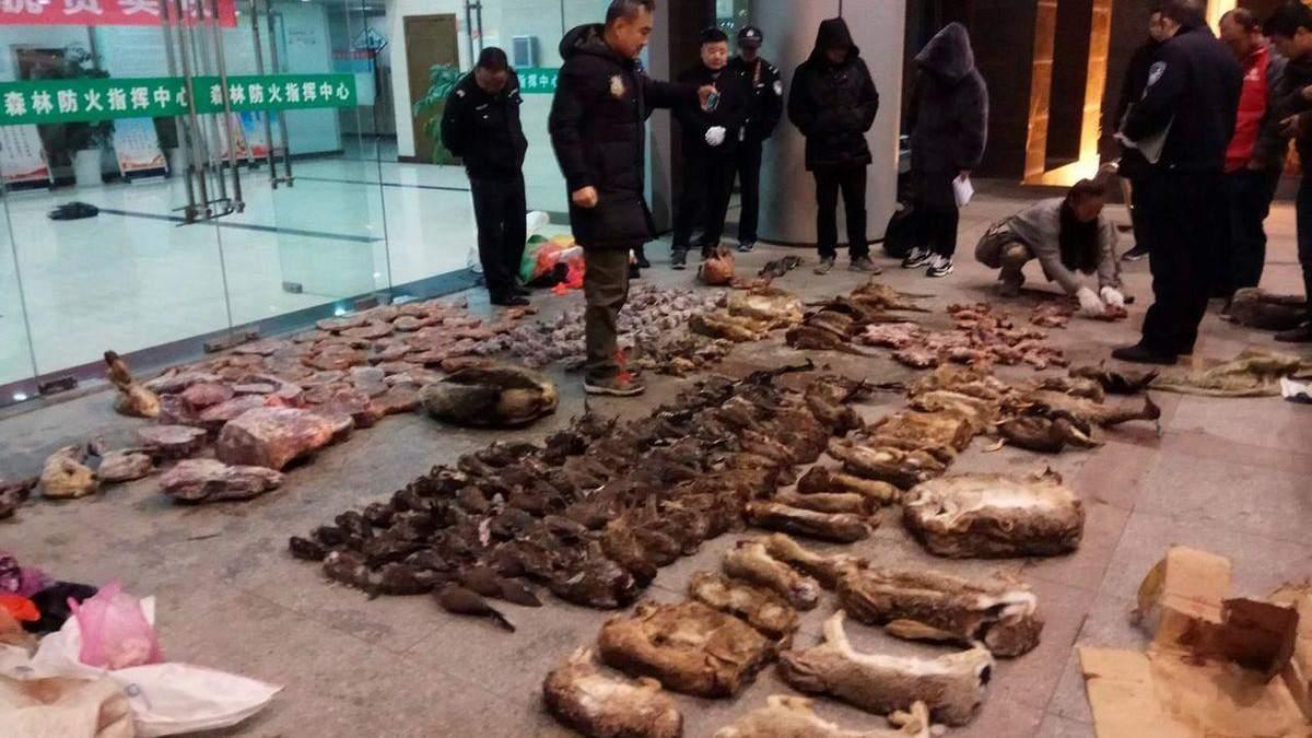 Рынки с дикими животными в Китае