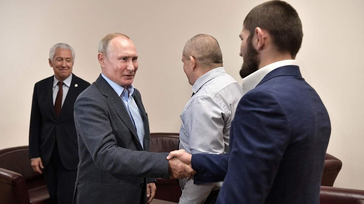 Володимир Путін і Хабіб Нурмагомедов