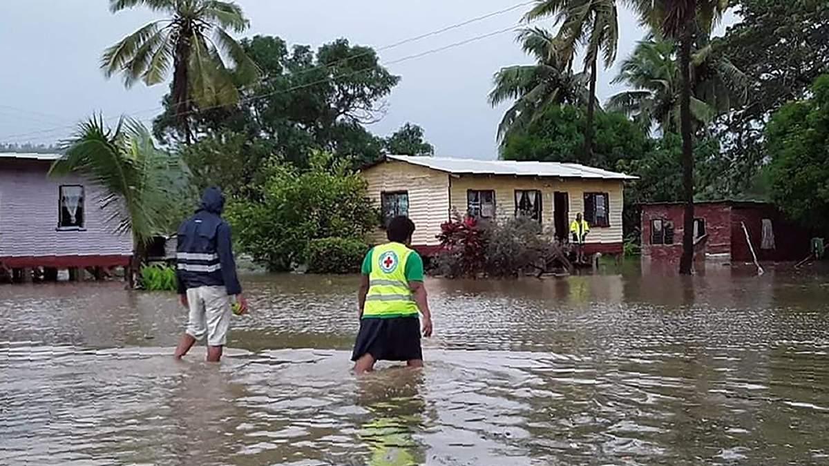 Наводнение в Вануату из-за урагана