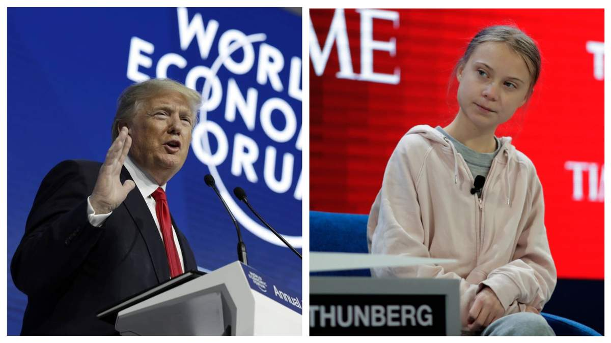 Хроники Давоса: что наговорили экоактивистка Грета и антигерой Трамп