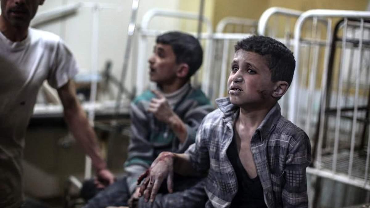 Сирійські діти, які страждають від війни