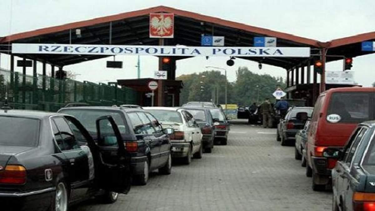 Черги на польському кордоні