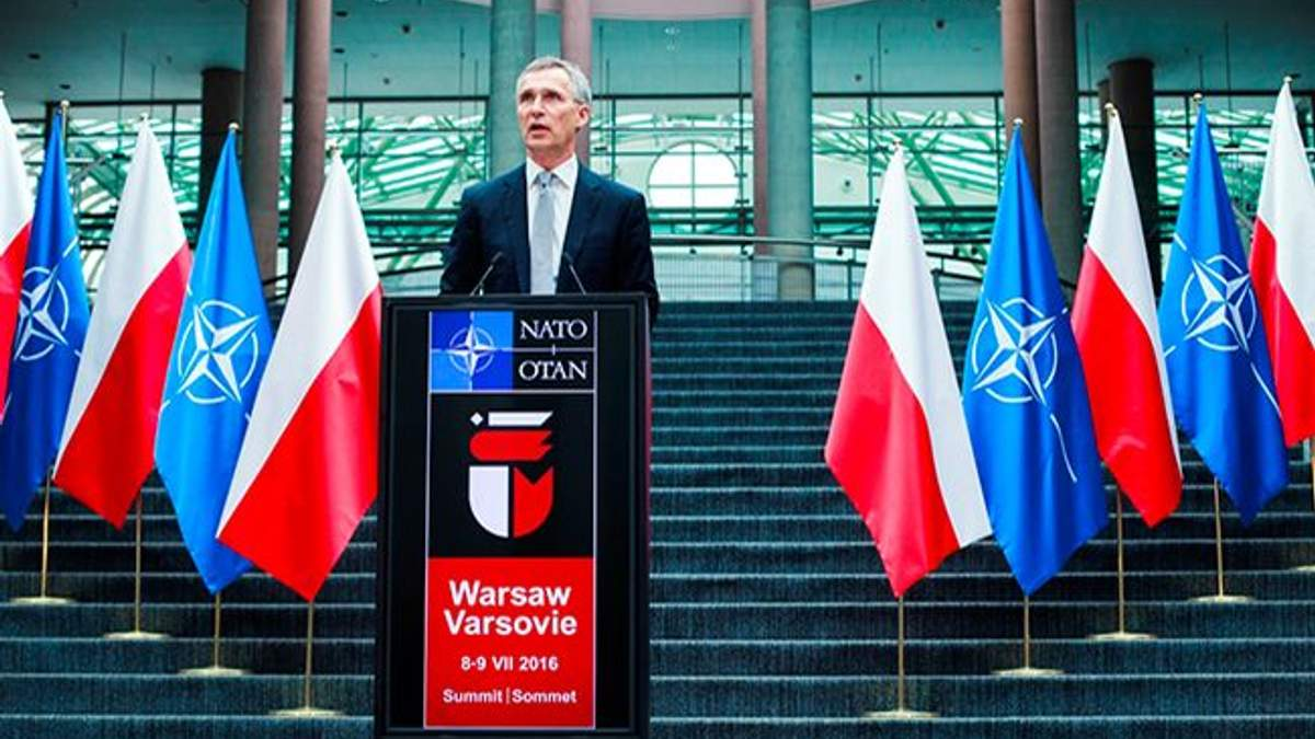 Йенс Столтенберг на открытии саммита НАТО