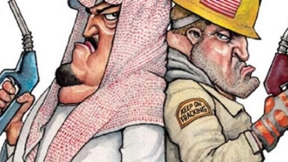 Каррикатура на обрушившиеся цены на нефть