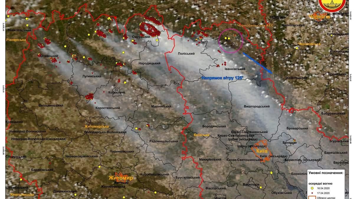 Пожежі в Україні: наслідки з космосу