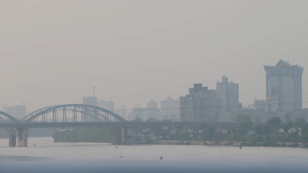 Когда ситуация с загрязнением воздуха в Киеве улучшится: прогноз Укргидрометцентра и ГСЧС