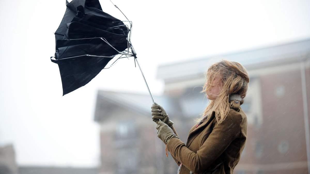 У Києві сильний вітер, рівень небезпеки – жовтий