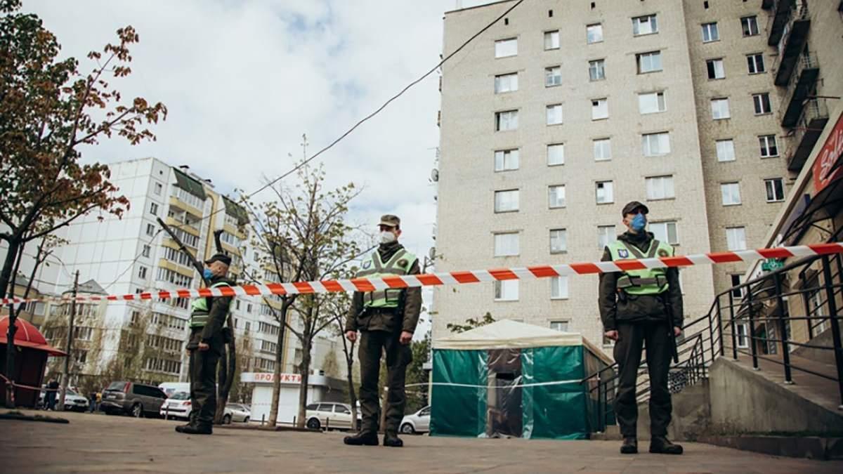 Коронавирус в Вишневом: общежитие окружила Нацгвардия