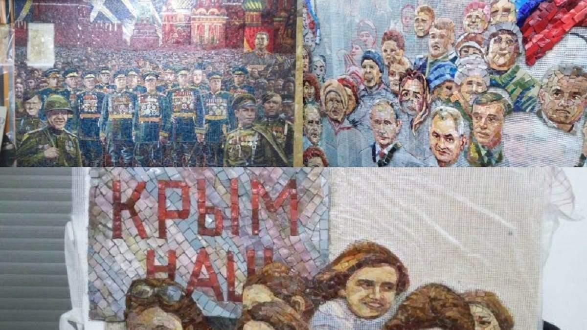 В храме вооруженных сил России сделали мозаику с Путиным: фото