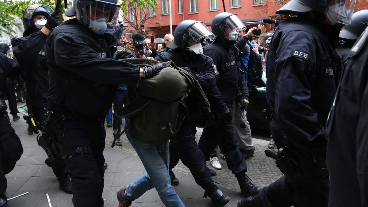Протести проти карантину у Берліні: є затримані – фото