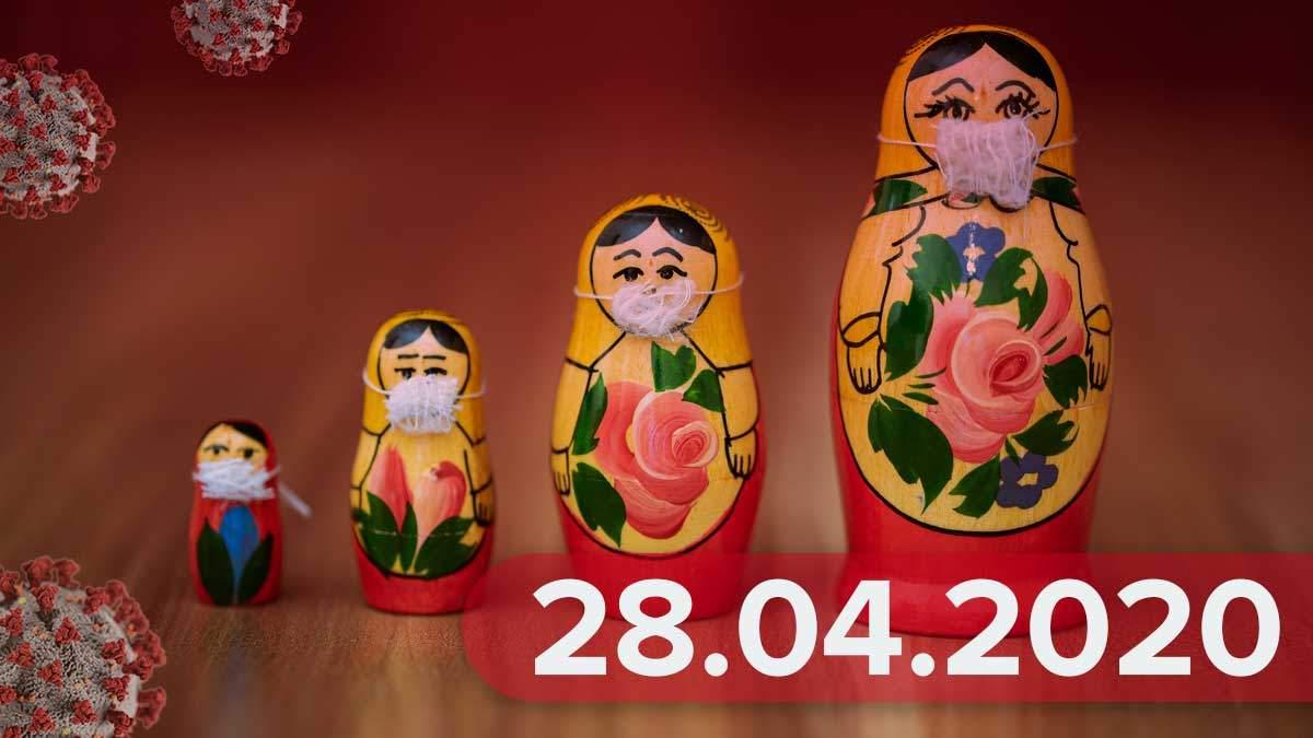Коронавирус Украина 28 апреля 2020 – статистика Украина, мир
