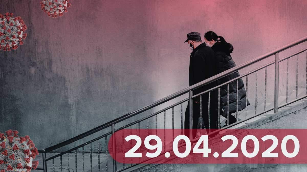 Коронавирус Украины статистика 29 апреля 2020 – новости в Украине, мире