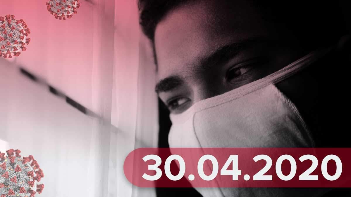 Коронавирус Украина 30 апреля 2020 – статистика Украина, мир