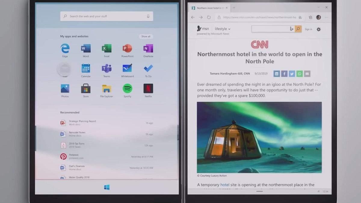 Surface Neo з Windows 10X