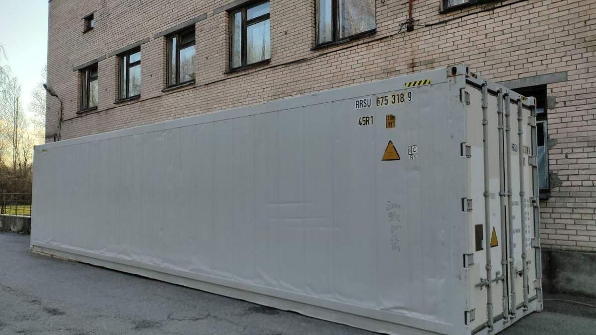 У Санкт-Петербурзі встановили мобільні морги через COVID-19: фото