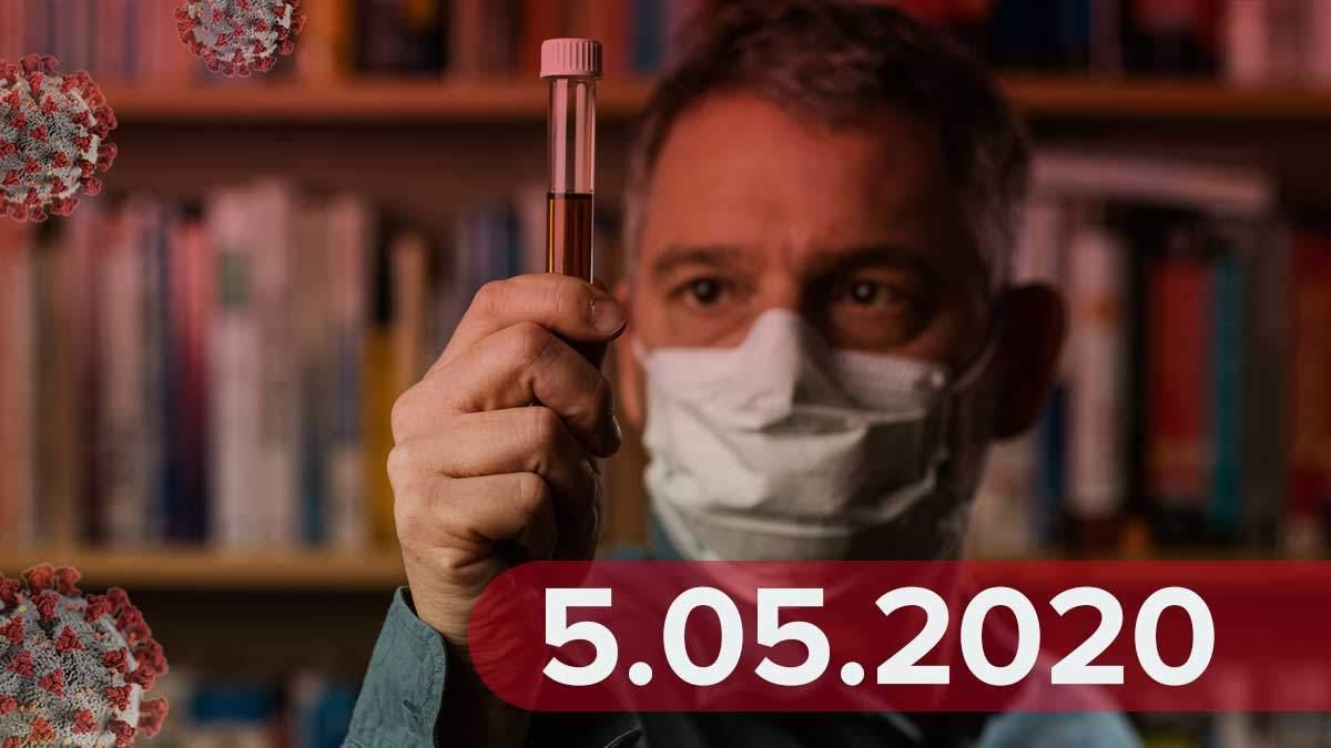 Коронавирус Украина 5 мая 2020 – статистика Украина, мир