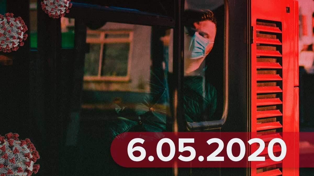 Коронавирус Украина статистика 6 мая 2020 – Украина, мир