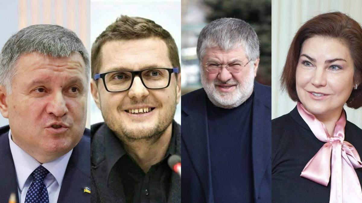 Аваков, Баканов, Коломойський, Венедіктова
