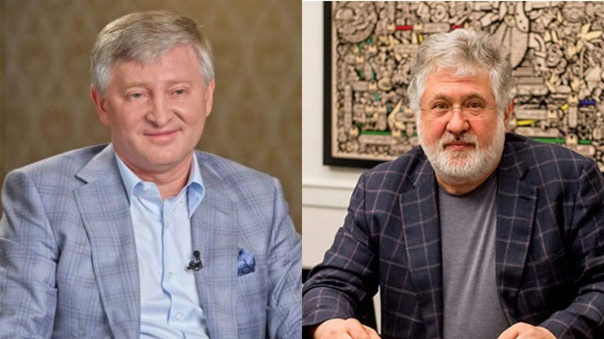 Ринат Ахметов и Игорь Коломойский