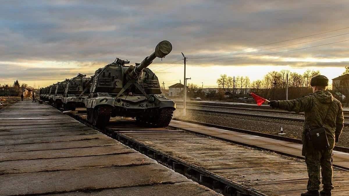 Росія звозить артилерію до кордону з Чернігівською областю: фото