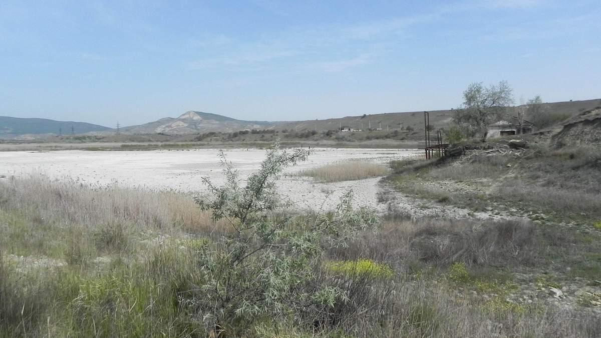 Посуха в окупованому Криму: у Коктебелі повністю висохло озеро – фото