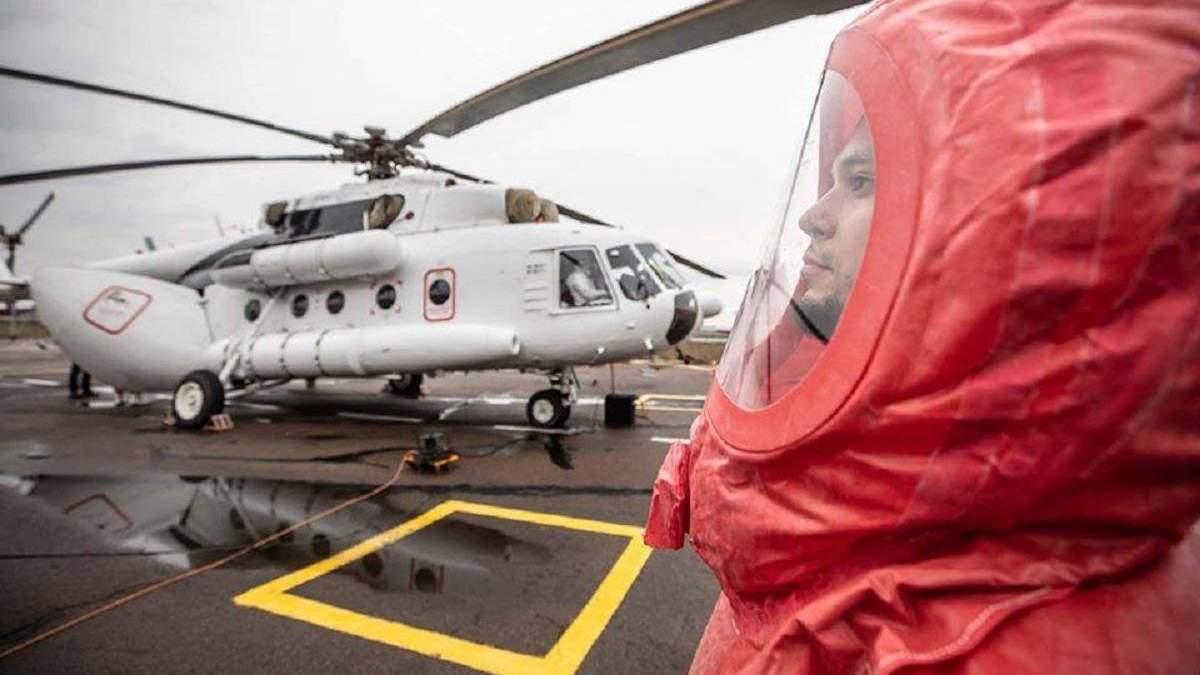 Вертоліт МВС чергуватиме в епіцентрі поширення коронавірусу в Україні