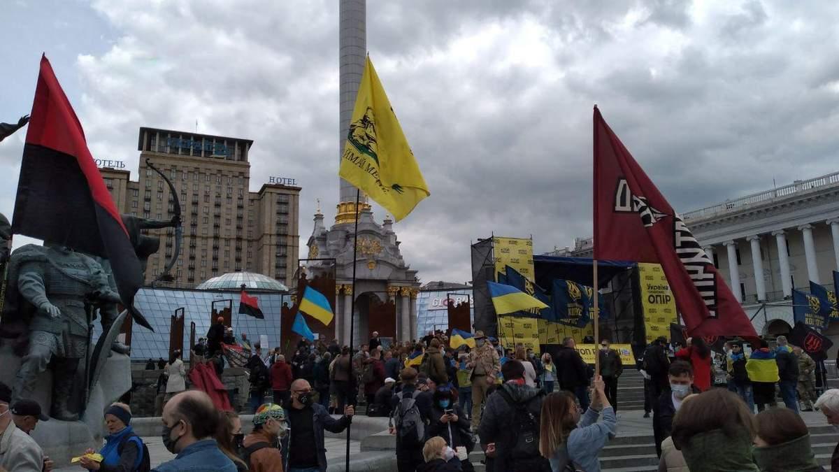 Акция Стоп реванш: в Украине протестуют против политики Зеленского
