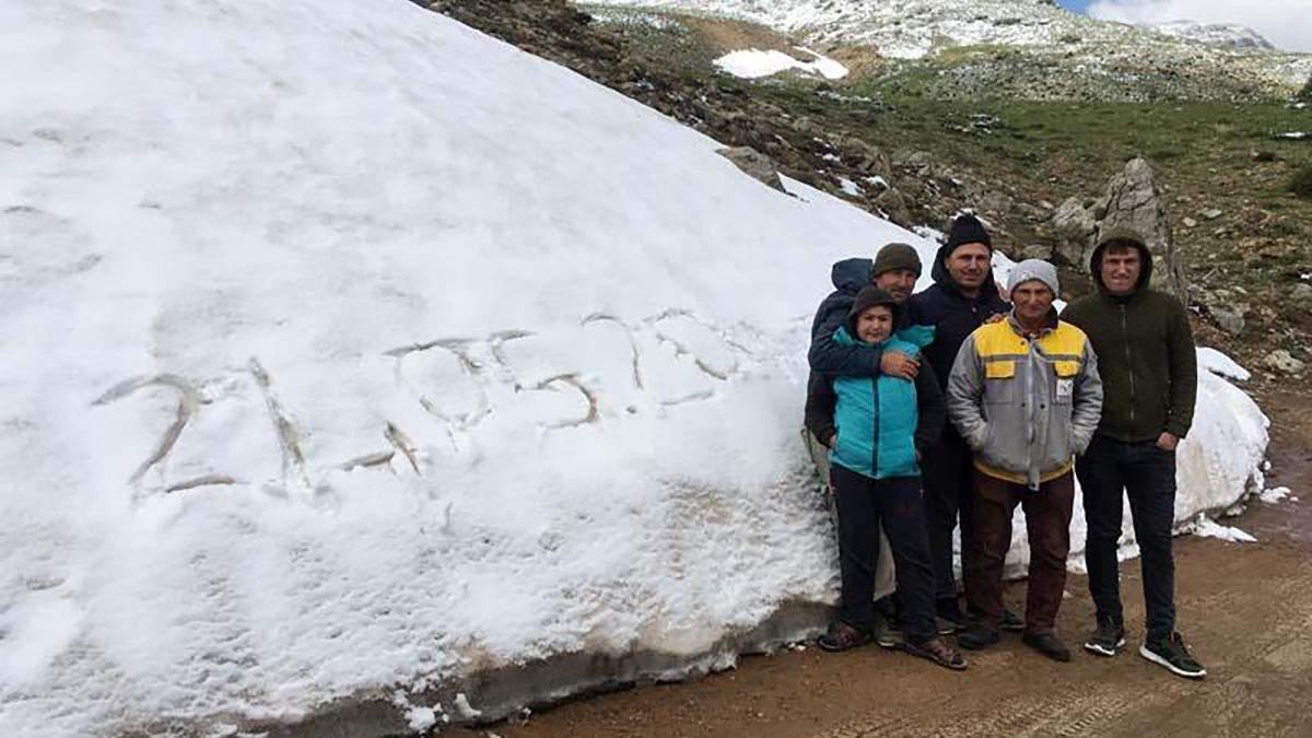 Снег в турецкой Анталии в мае 2020 - фото