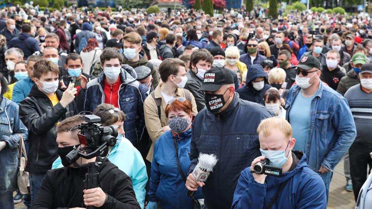 У Білорусі протестують проти висунення Лукашенка на шостий президентський термін