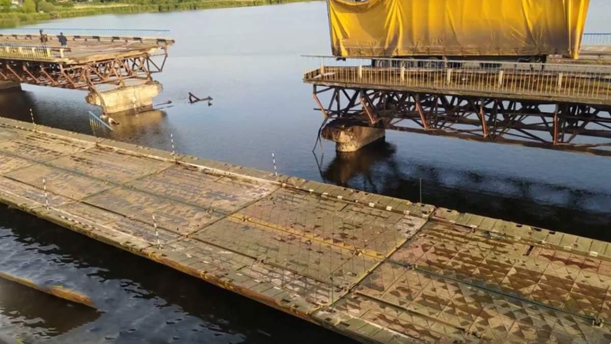 На Дніпропетровщині звели переправу замість моста, який обвалився