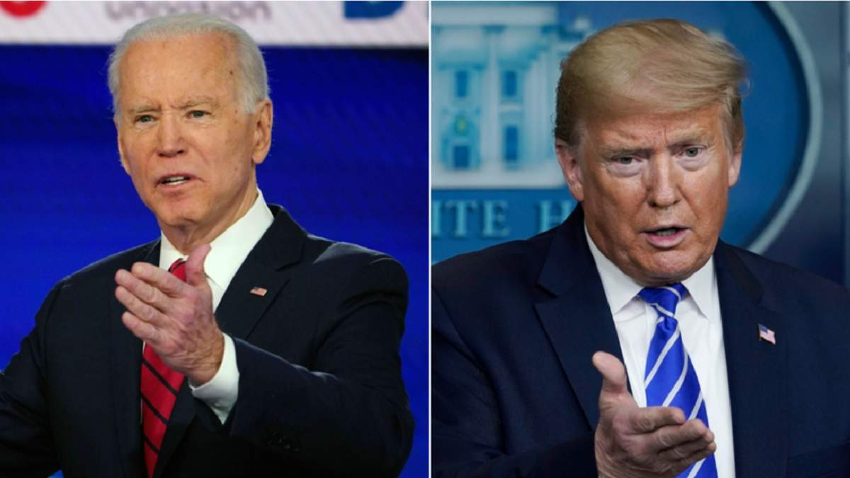 Кандидат у президенти США  Байден та діючий президент США Трамп