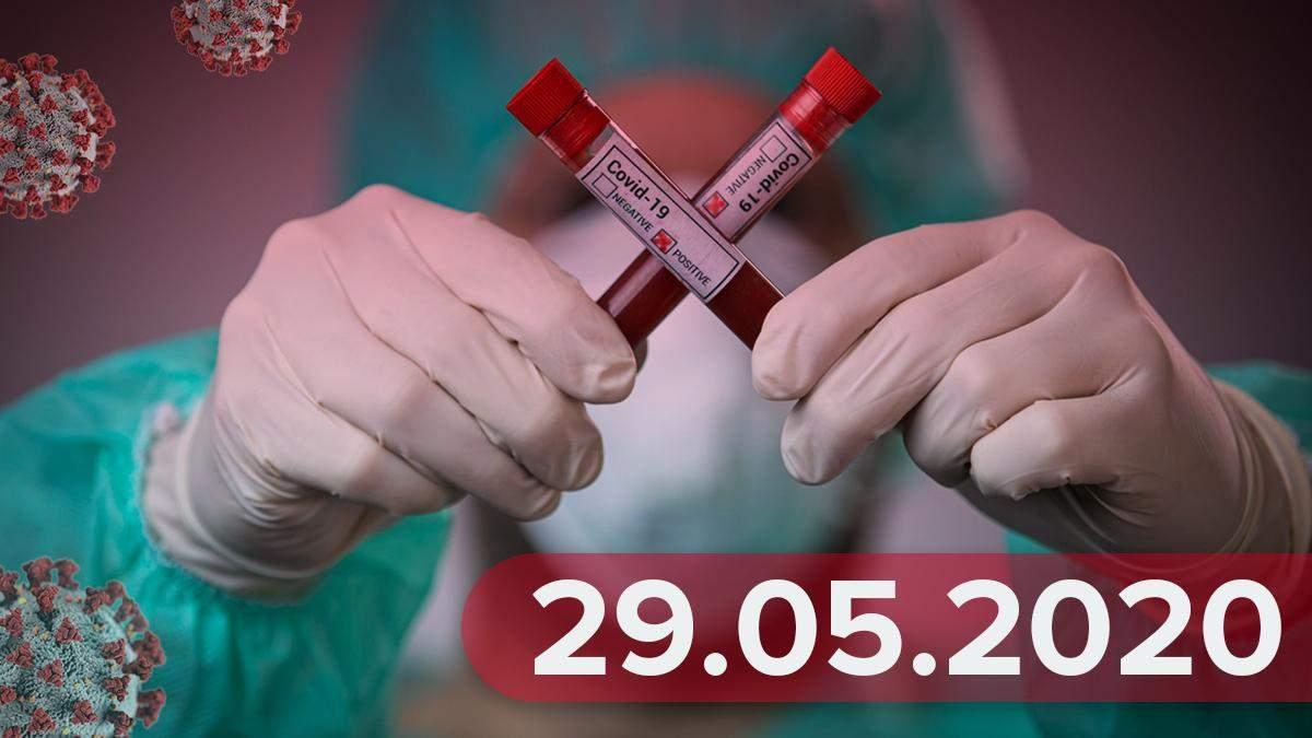 Коронавирус в мире, Украина 29 мая 2020 – статистика, новости
