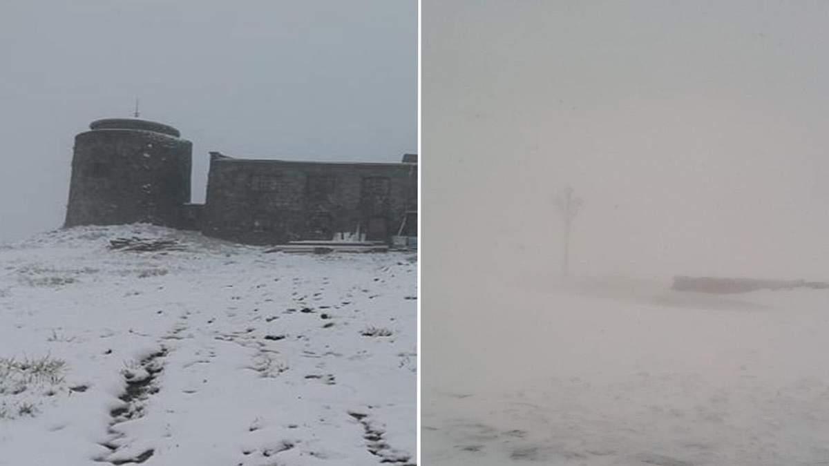 Сніг у Карпатах 31 травня 2020, хуртовина і негода: фото