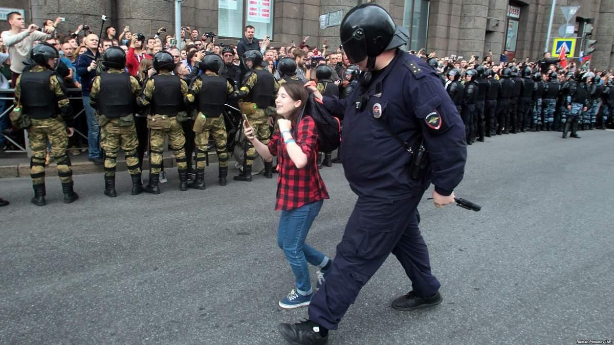 У Росії жорстко придушують усі протестні акції