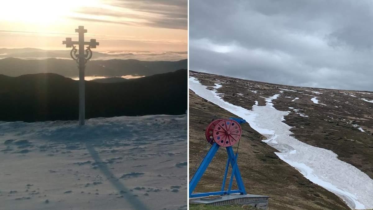 Сніг у Карпатах 2 червня 2020: фото засніжених гір