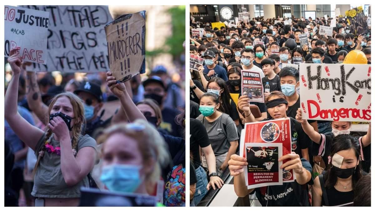 Протесты в США и Гонконге – в чем разница – Новости США – 24 Канал
