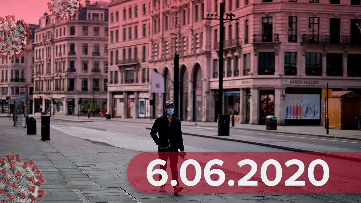 Коронавирус в мире, Украина 6 июня 2020: статистика, новости