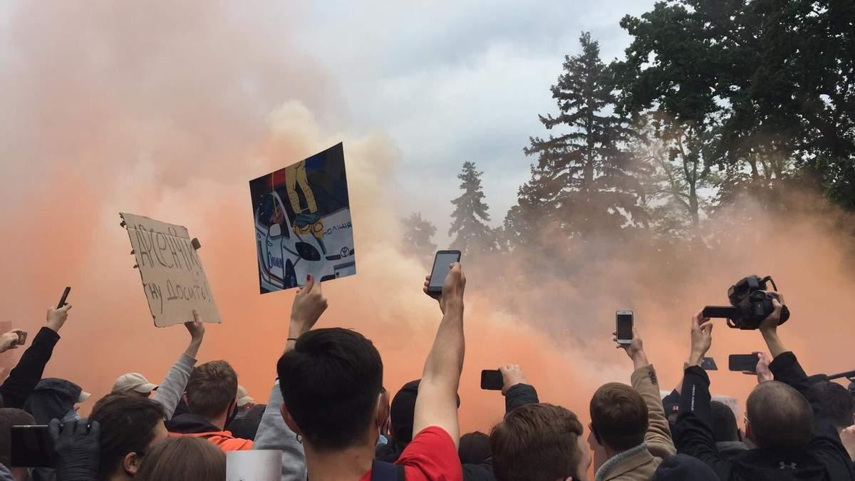 Мітинг проти Авакова під Кабміном: поліція затримала 8 людей