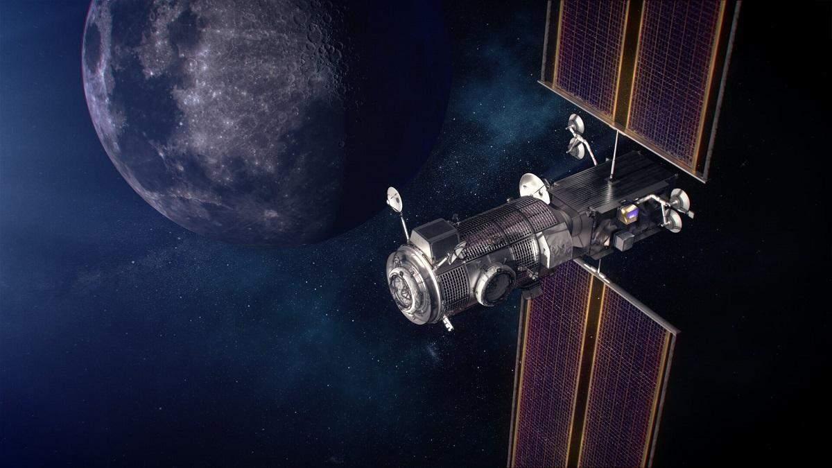 Вероятный вид жилого модуля на орбите луны