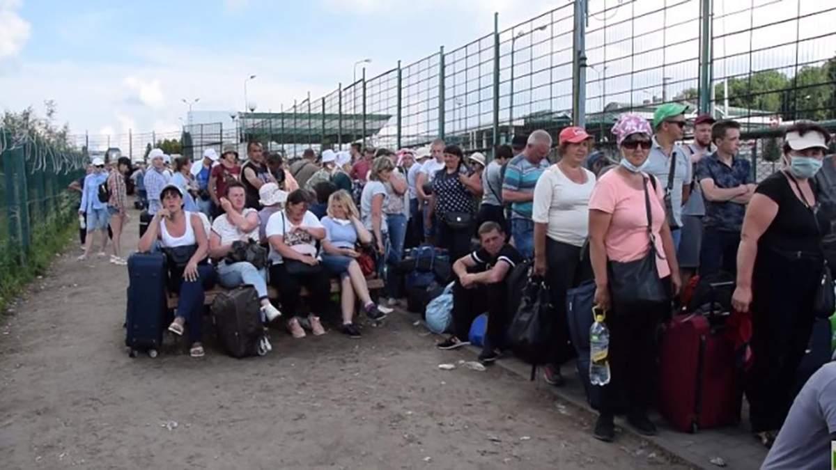 Черги на пішоходному переході Шегині 14 червня 2020: відео
