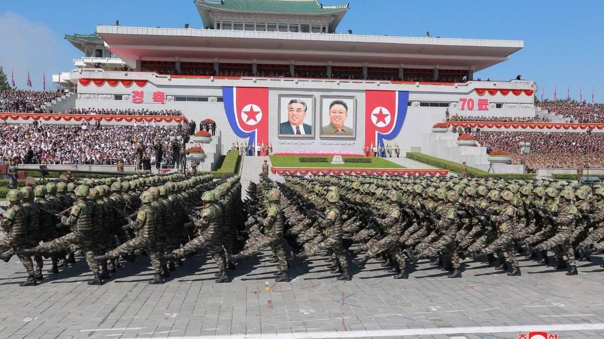 Армия КНДР на параде