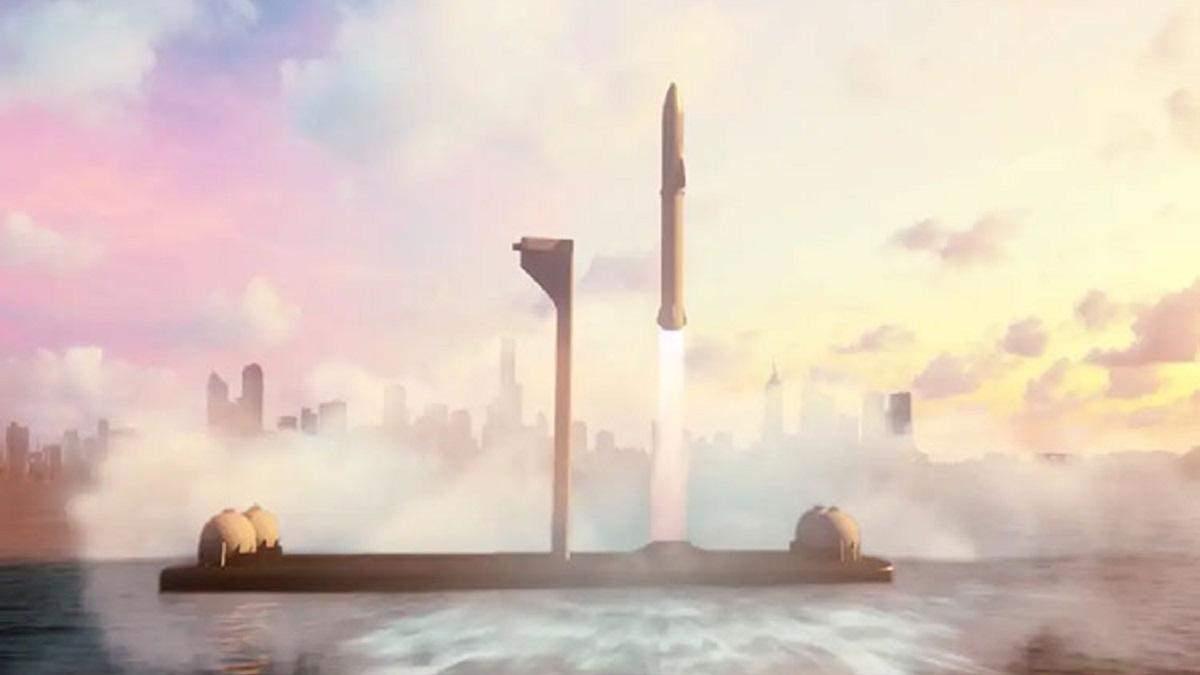Маск сообщил о работе над плавающим космодромом