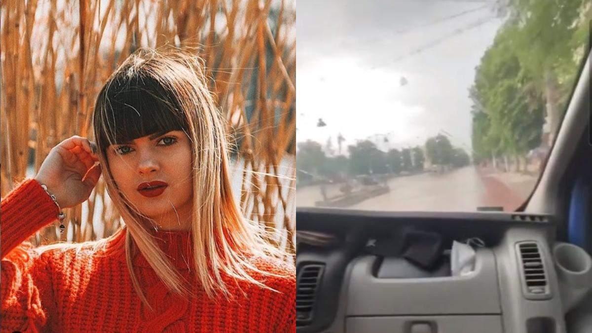 """""""Тікайте, кеглі"""": горе-блогерка з Хмельницького проїхалася на авто пішохідною вулицею"""