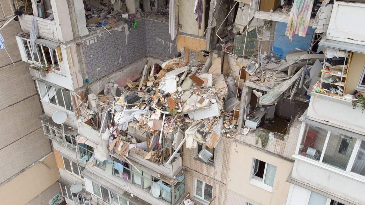 Видео и фото изнутри дома в Киеве, где произошел взрыв 21 июня 2020