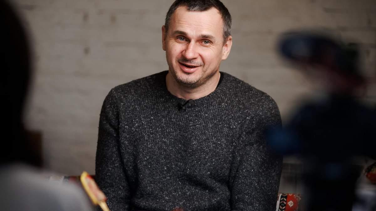 Олег Сенцов приехал на линию соприкосновения на Донбасс