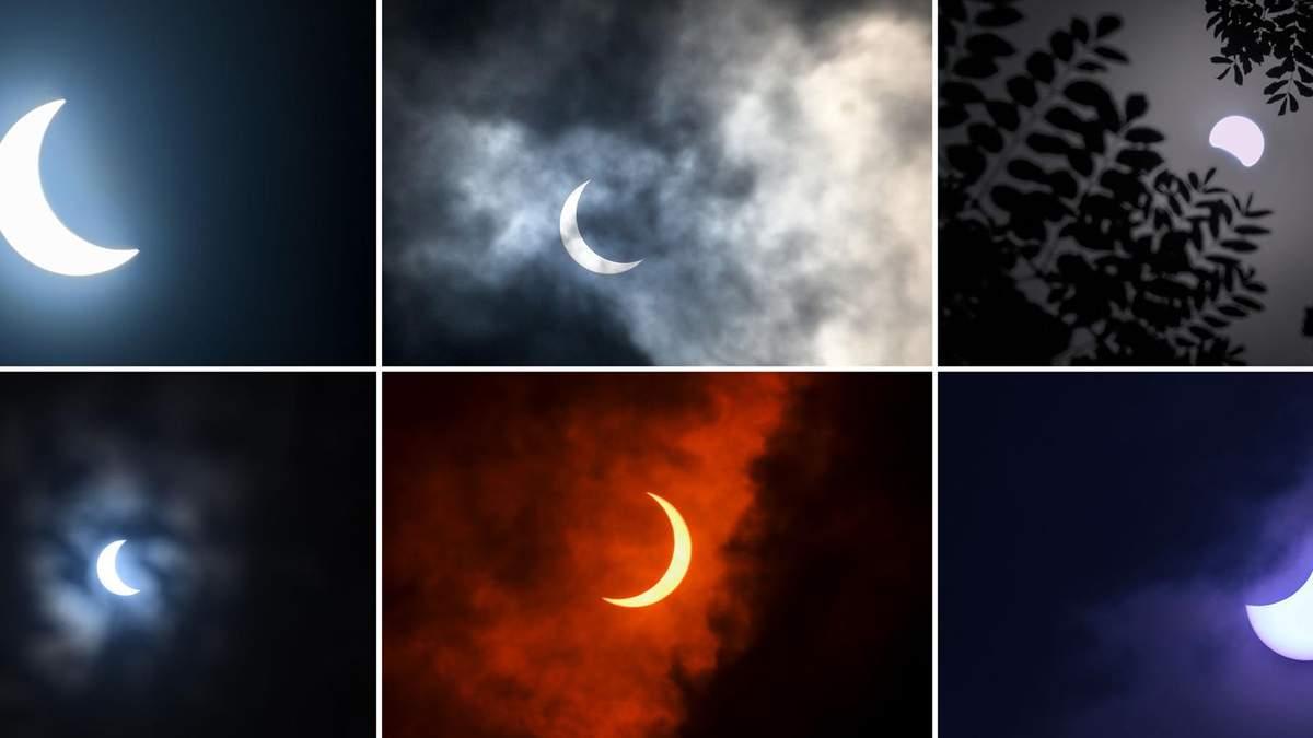 Вогняне кільце - сонячне затемнення 21 червня 2020: фото, відео